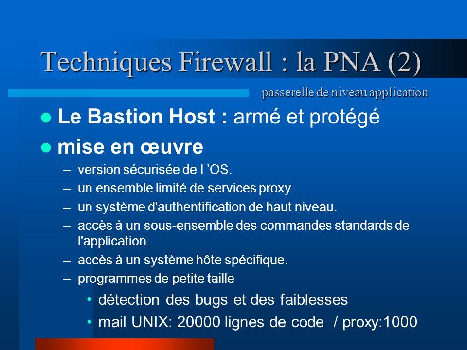 Techniques Firewall : la PNA (2)