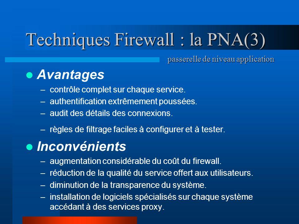 Techniques Firewall : la PNA(3)