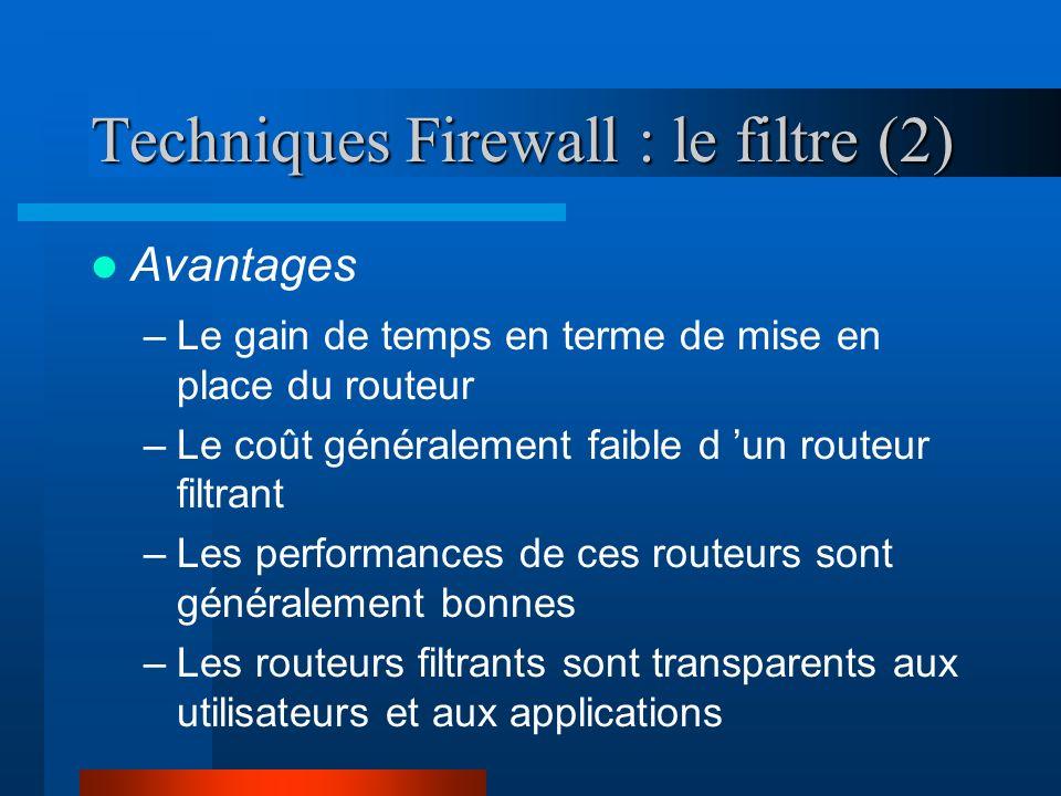 Techniques Firewall : le filtre (2)