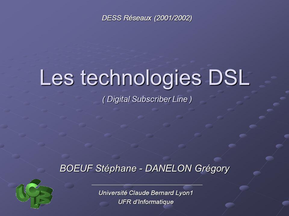 Les technologies DSL BOEUF Stéphane - DANELON Grégory