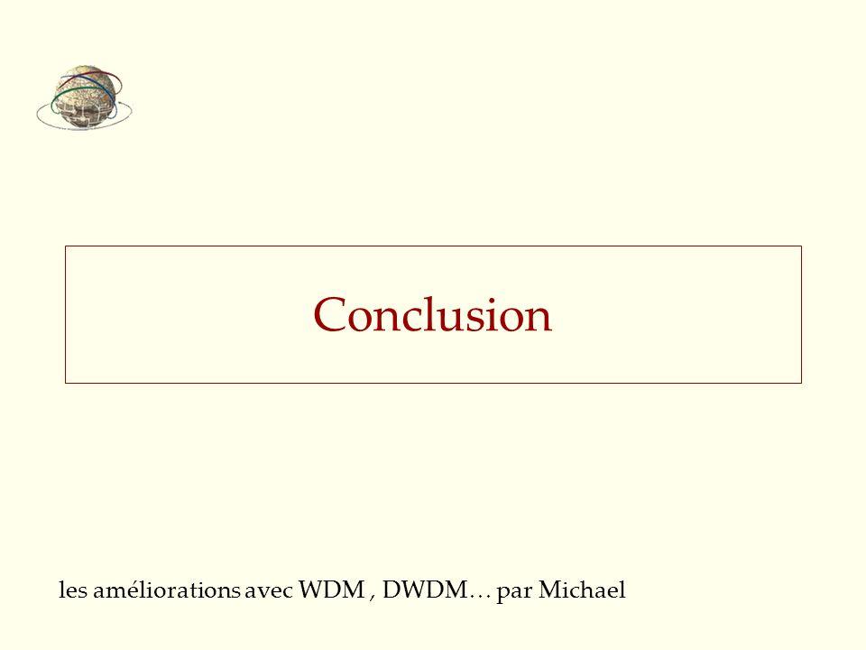 les améliorations avec WDM , DWDM… par Michael