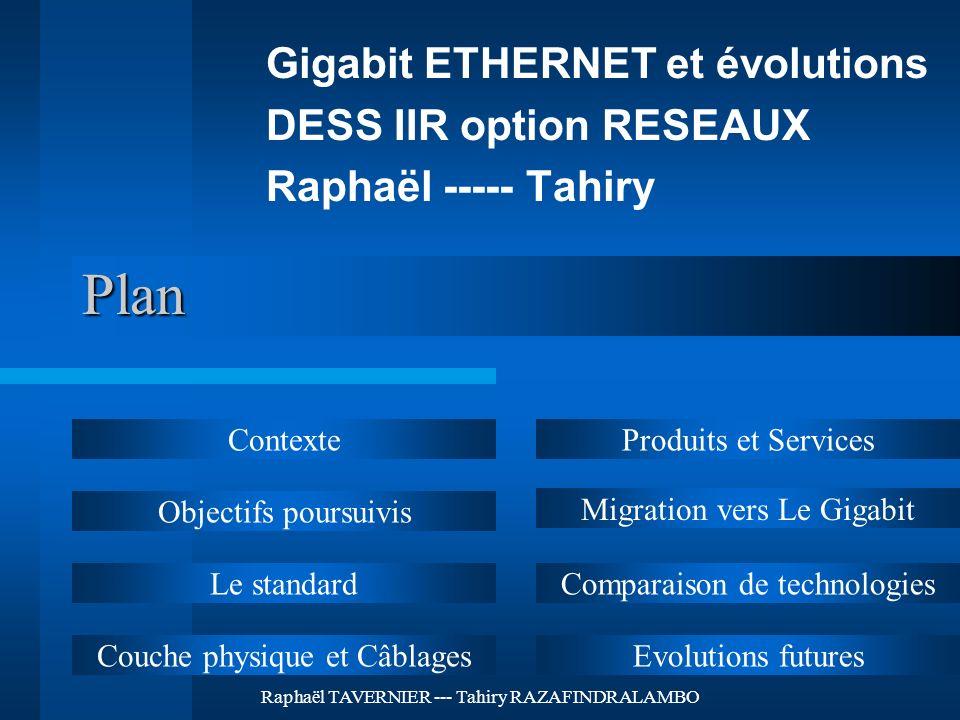 Plan Gigabit ETHERNET et évolutions DESS IIR option RESEAUX