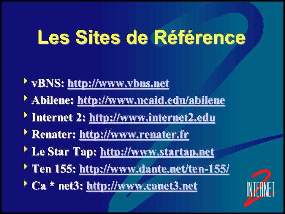 Les Sites de Référence vBNS: http://www.vbns.net