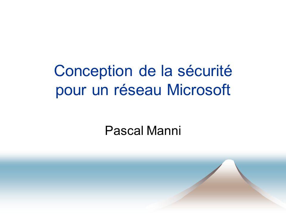 Conception de la sécurité pour un réseau Microsoft