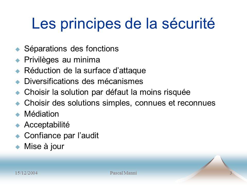 Les principes de la sécurité