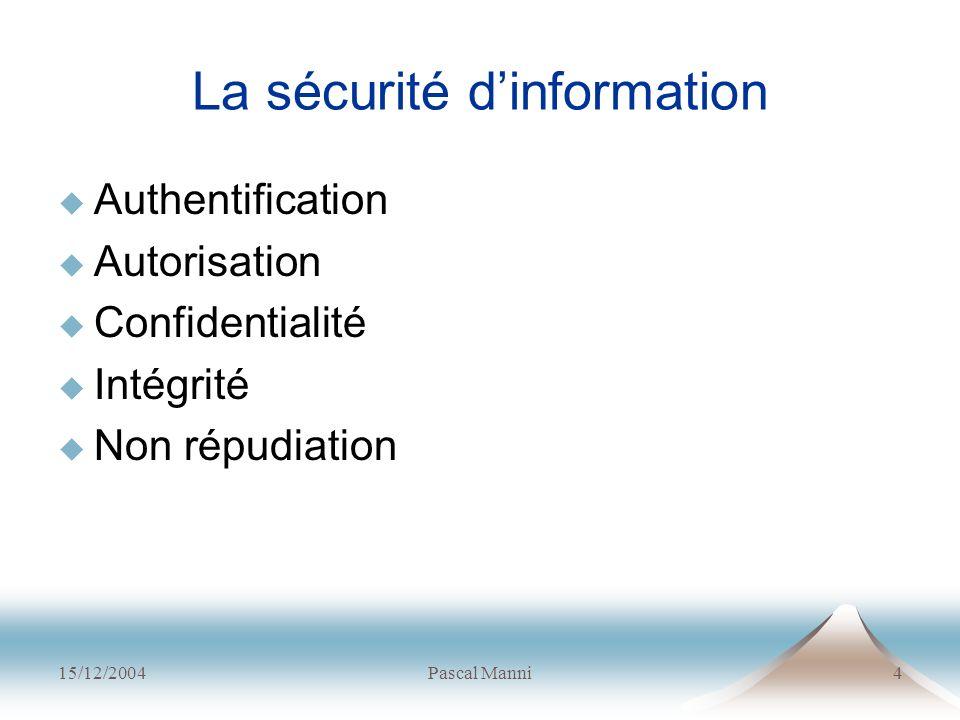 La sécurité d'information