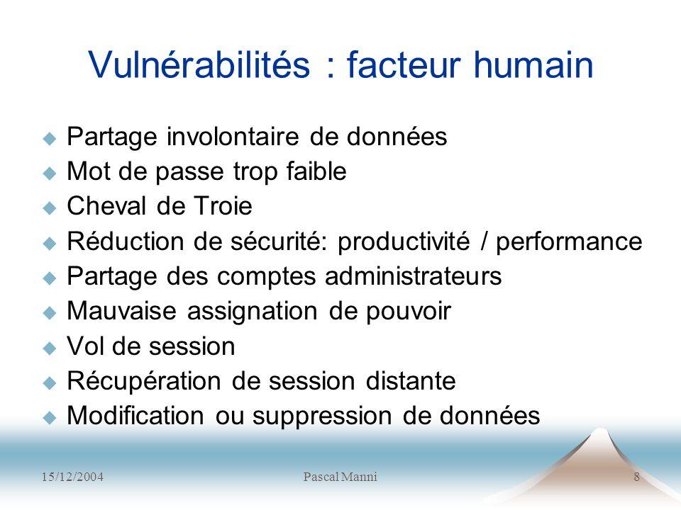 Vulnérabilités : facteur humain