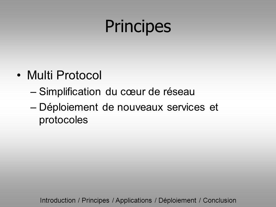 Principes Multi Protocol Simplification du cœur de réseau