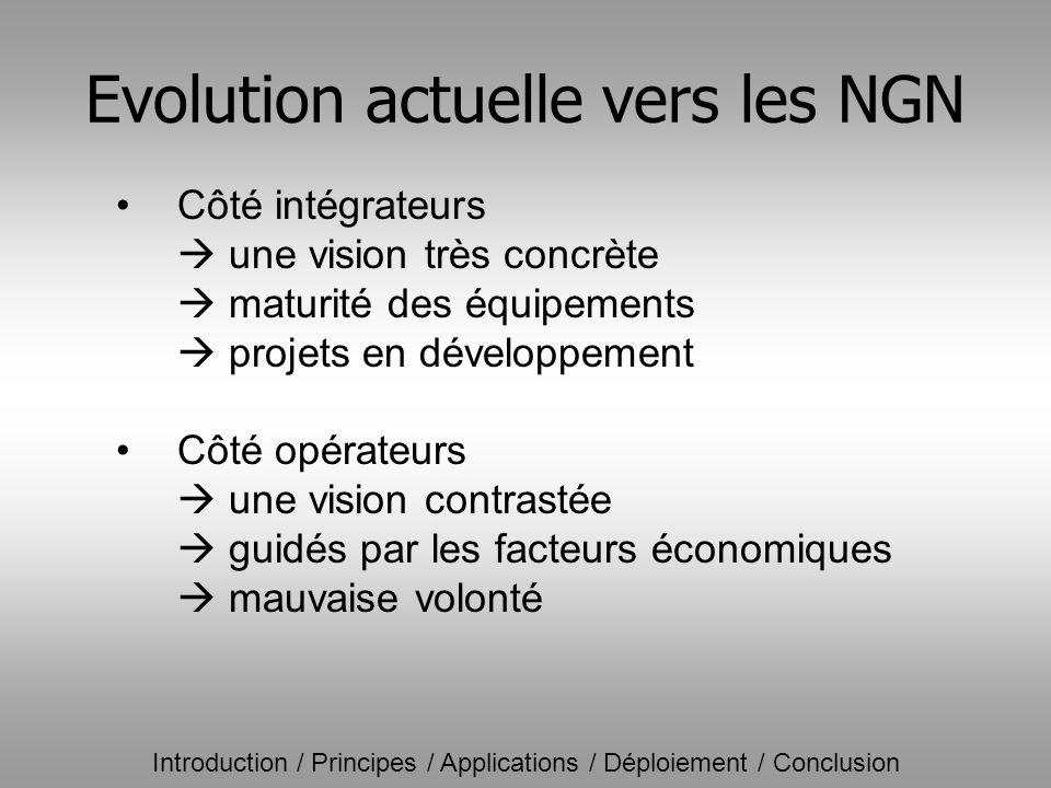 Evolution actuelle vers les NGN