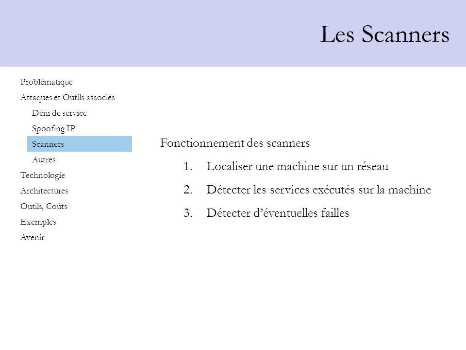 Les Scanners Fonctionnement des scanners