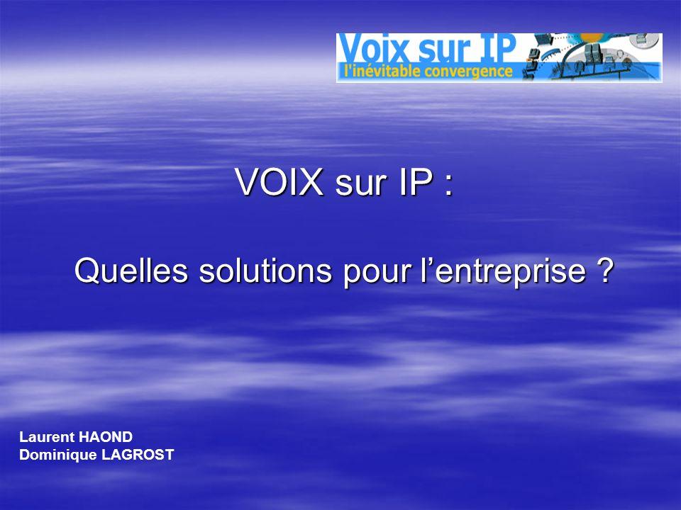 VOIX sur IP : Quelles solutions pour l'entreprise