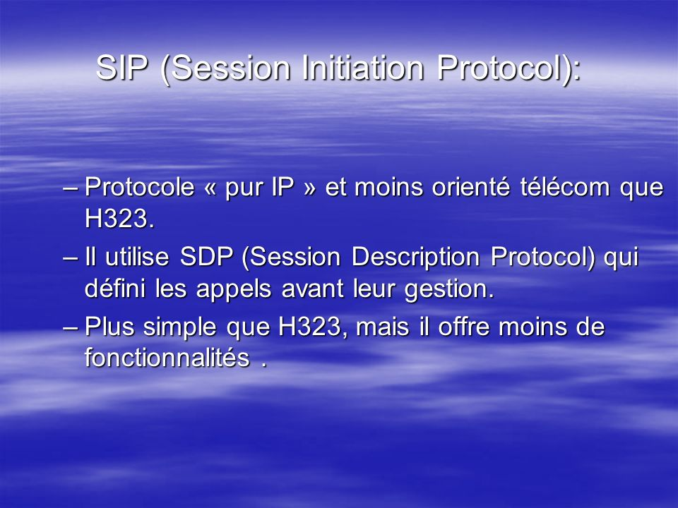 SIP (Session Initiation Protocol):