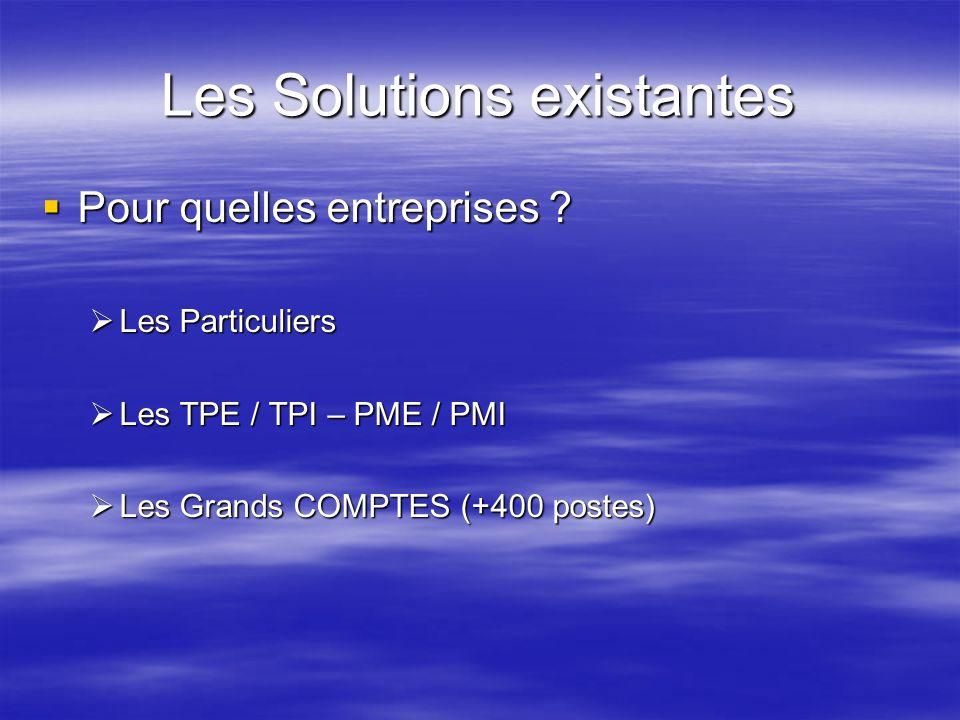 Les Solutions existantes