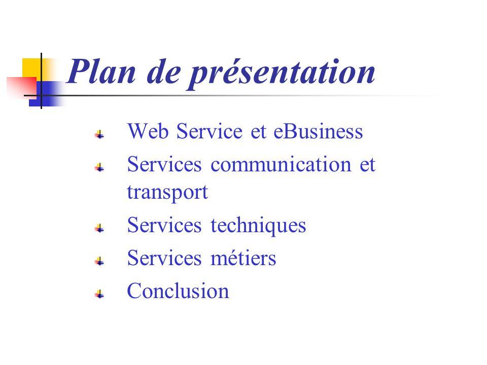Plan de présentation Web Service et eBusiness
