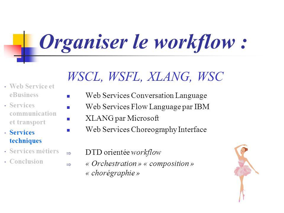 Organiser le workflow :