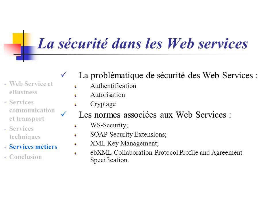 La sécurité dans les Web services