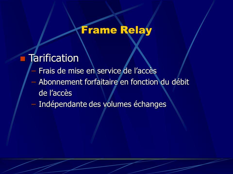 Frame Relay Tarification Frais de mise en service de l'accès