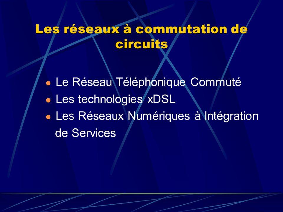 Les réseaux à commutation de circuits