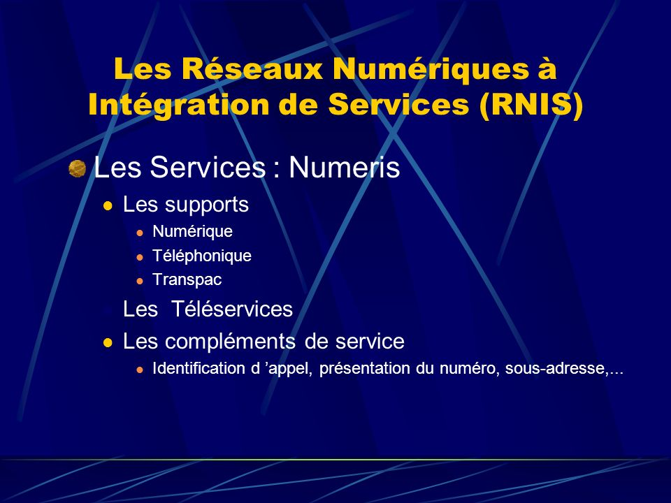 Les Réseaux Numériques à Intégration de Services (RNIS)