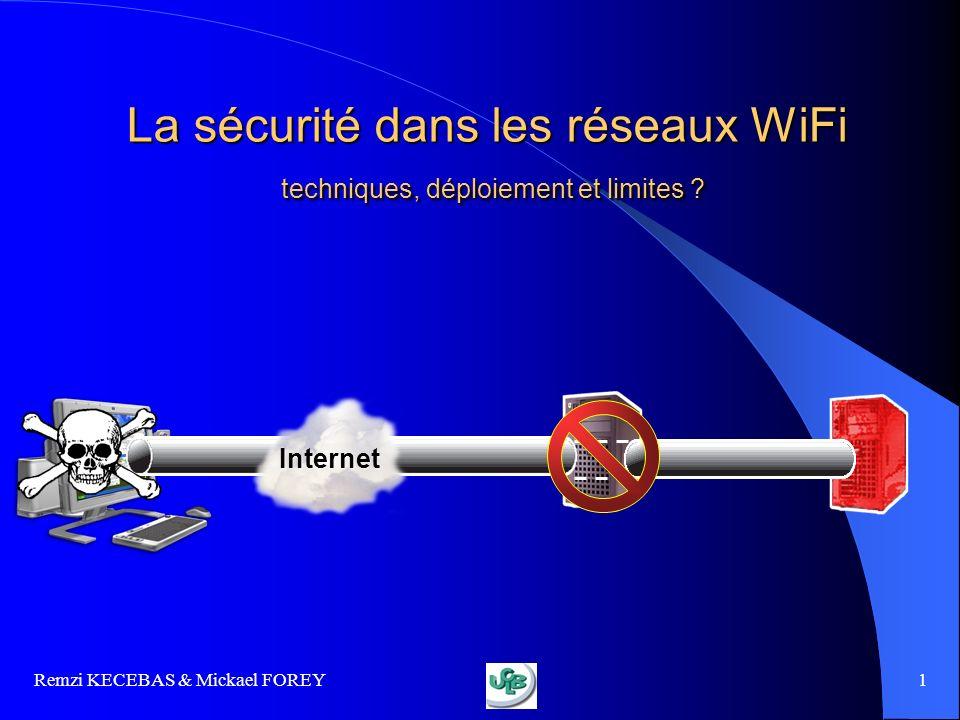 La sécurité dans les réseaux WiFi techniques, déploiement et limites