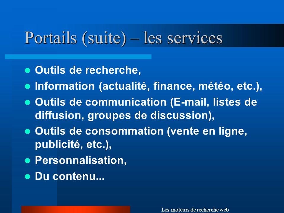 Portails (suite) – les services