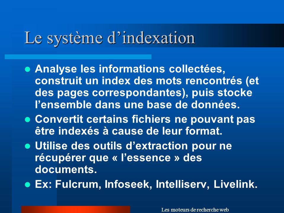 Le système d'indexation