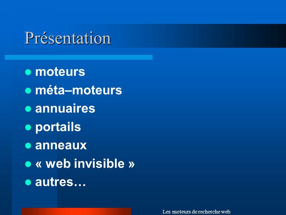 Les moteurs de recherche web