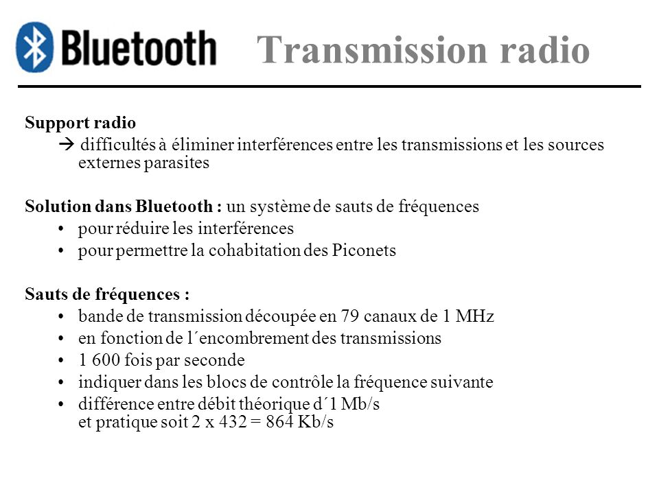 Transmission radio Support radio