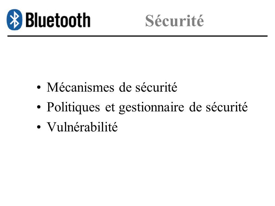Sécurité Mécanismes de sécurité Politiques et gestionnaire de sécurité