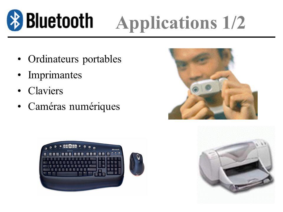 Applications 1/2 Ordinateurs portables Imprimantes Claviers