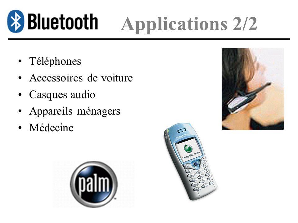 Applications 2/2 Téléphones Accessoires de voiture Casques audio