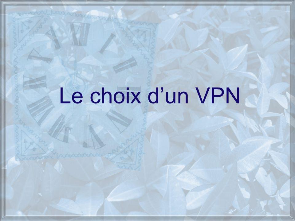 Le choix d'un VPN