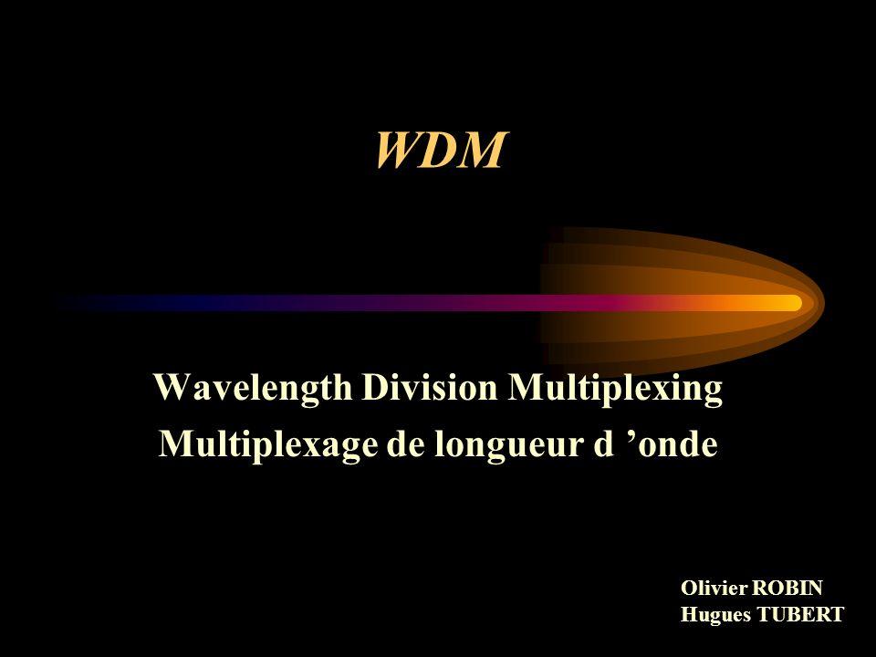 Wavelength Division Multiplexing Multiplexage de longueur d 'onde