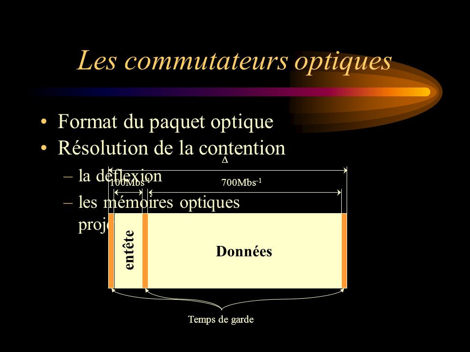 Les commutateurs optiques