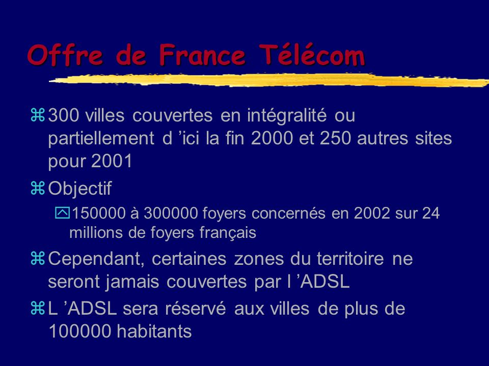 Offre de France Télécom