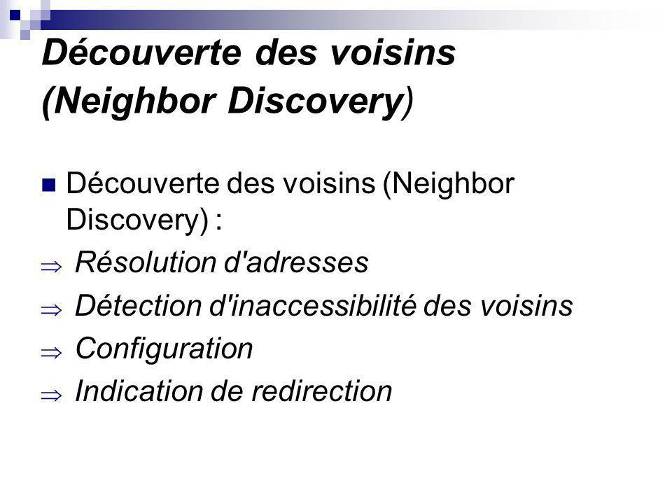 Découverte des voisins (Neighbor Discovery)