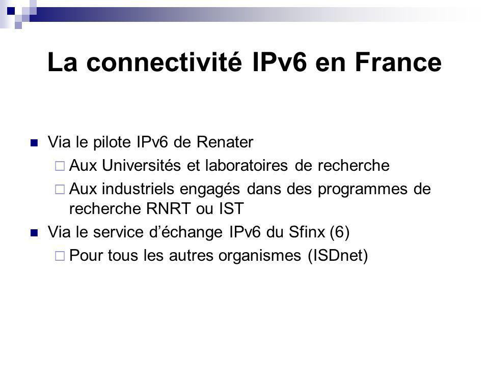 La connectivité IPv6 en France