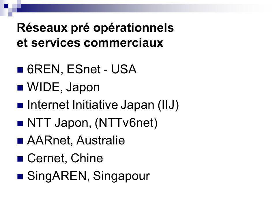 Réseaux pré opérationnels et services commerciaux