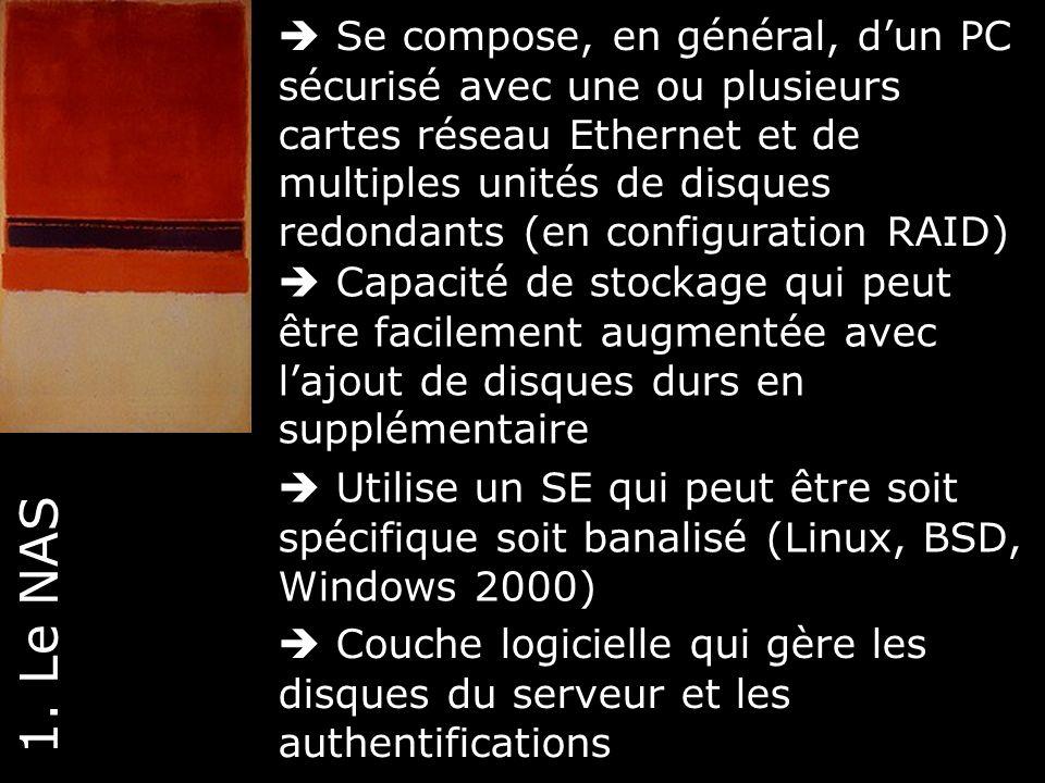  Se compose, en général, d'un PC sécurisé avec une ou plusieurs cartes réseau Ethernet et de multiples unités de disques redondants (en configuration RAID)