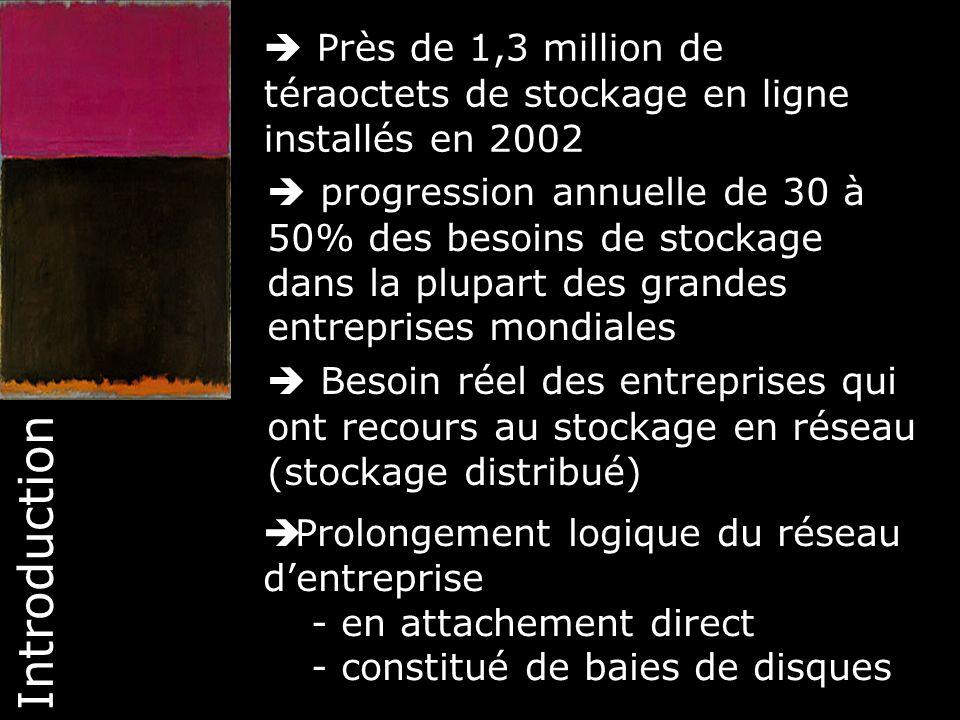  Près de 1,3 million de téraoctets de stockage en ligne installés en 2002