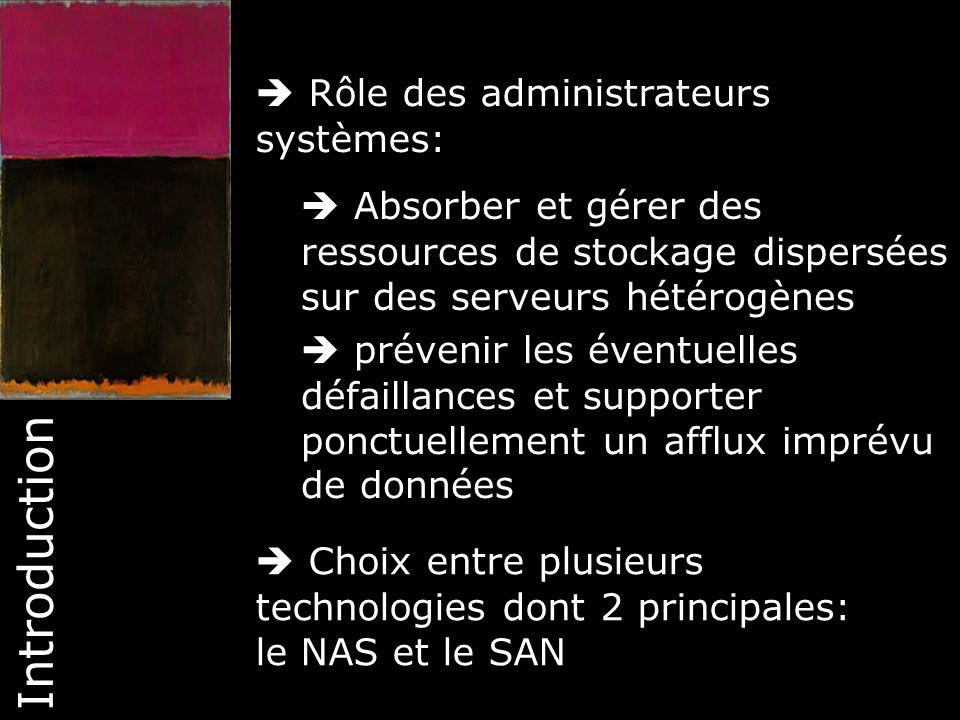 Introduction  Rôle des administrateurs systèmes: