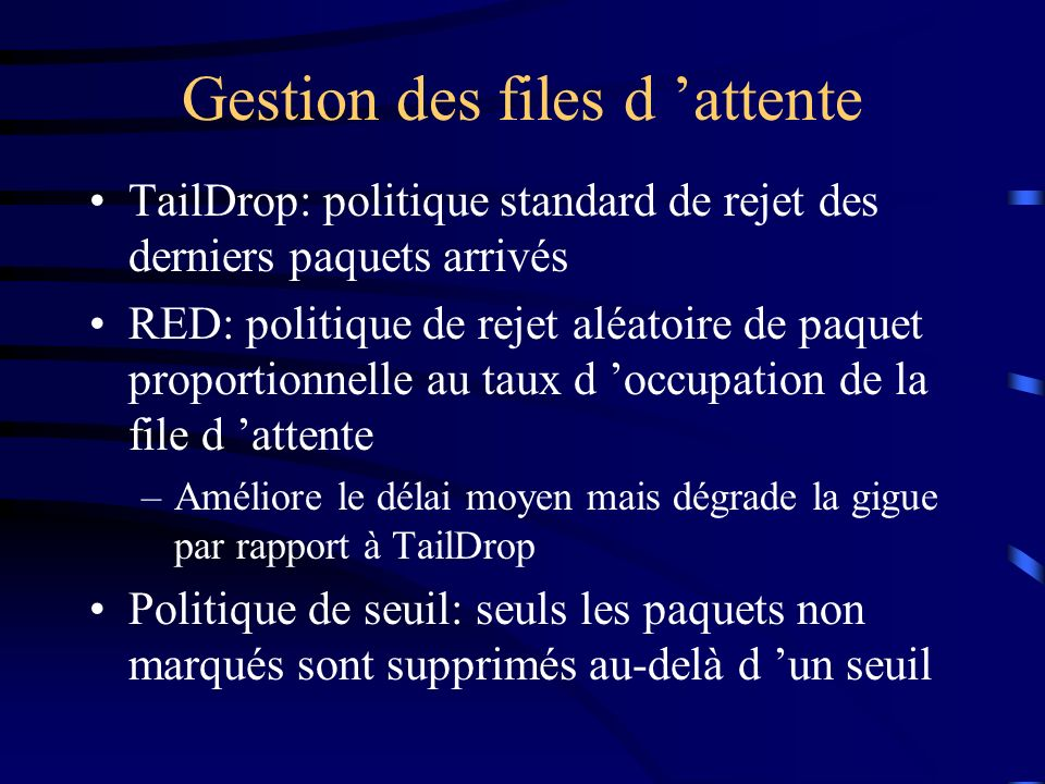 Gestion des files d 'attente