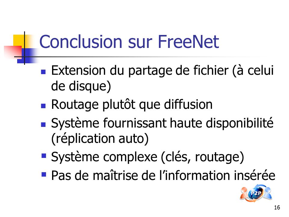 Conclusion sur FreeNet