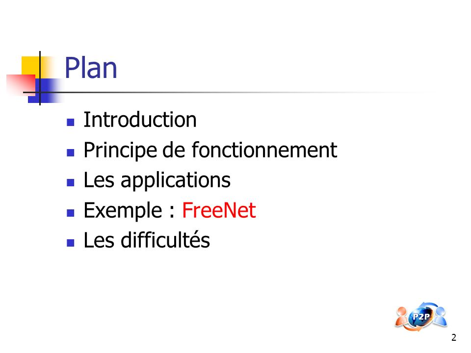 Plan Introduction Principe de fonctionnement Les applications