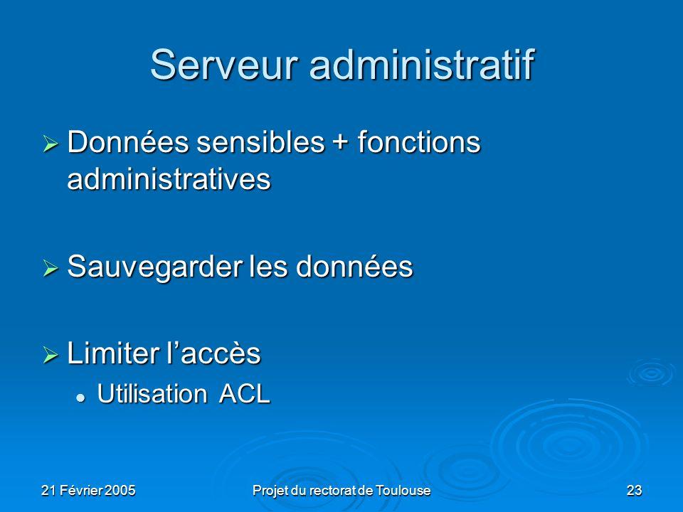 Serveur administratif