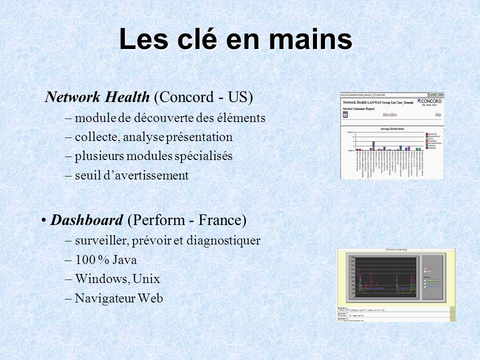 Les clé en mains Network Health (Concord - US)