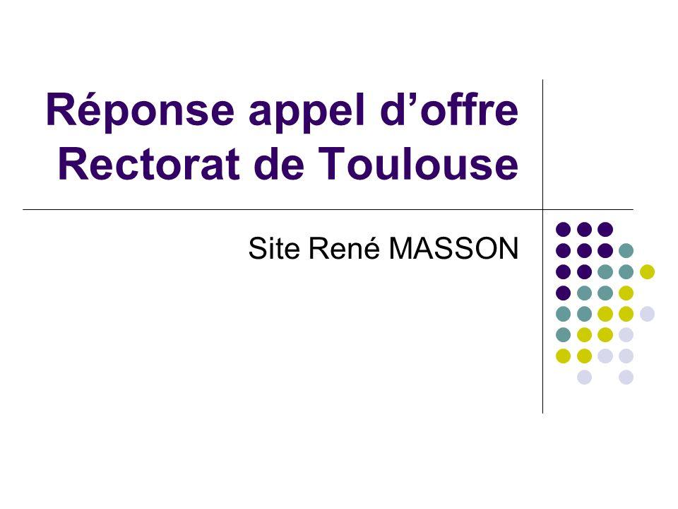 Réponse appel d'offre Rectorat de Toulouse