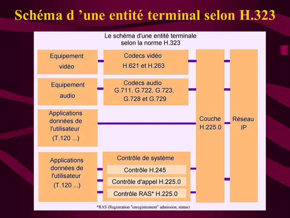 Schéma d 'une entité terminal selon H.323