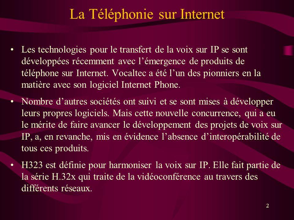 La Téléphonie sur Internet