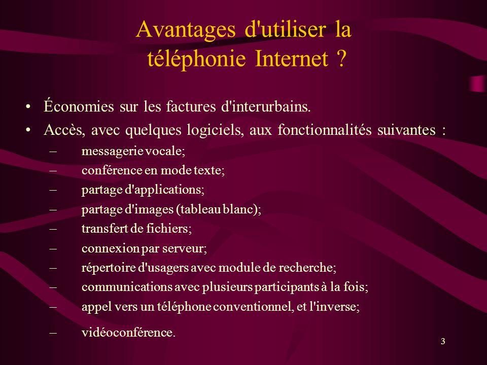 Avantages d utiliser la téléphonie Internet
